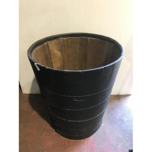 12 - Large wooden barrel...