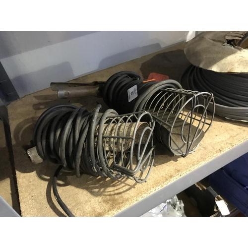 18 - 2 garage lamps...