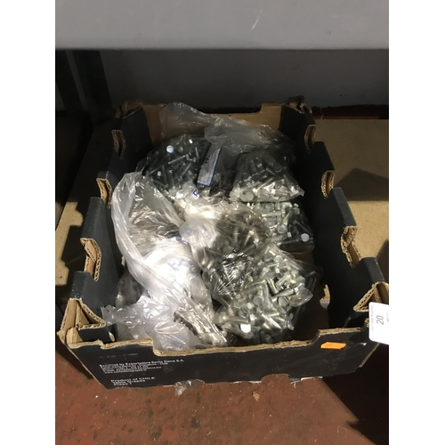 20 - Box lot of nuts and bolts...