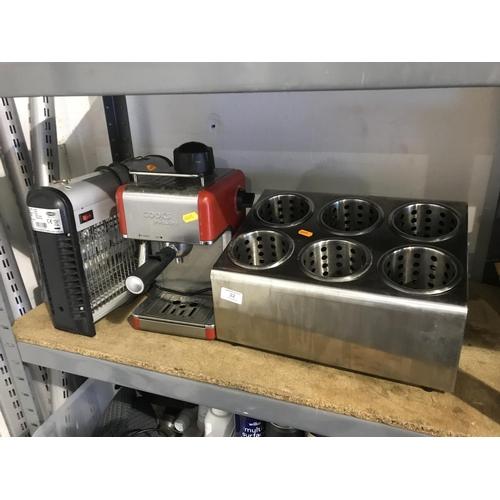 22 - Shelf lot of appliances...