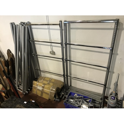 28 - Large quantity of shop shelving...